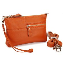 New Arrival Women's Genuine Leather Dual Function Handbag Shoulder Messenger Bag Day clutches,Wristlet Bags JJ 0043(China (Mainland))