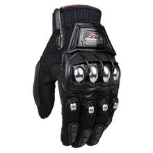 Alloy Steel Bicycle Motorcycle Motorbike Powersports Racing Gloves Black M L XL(China (Mainland))