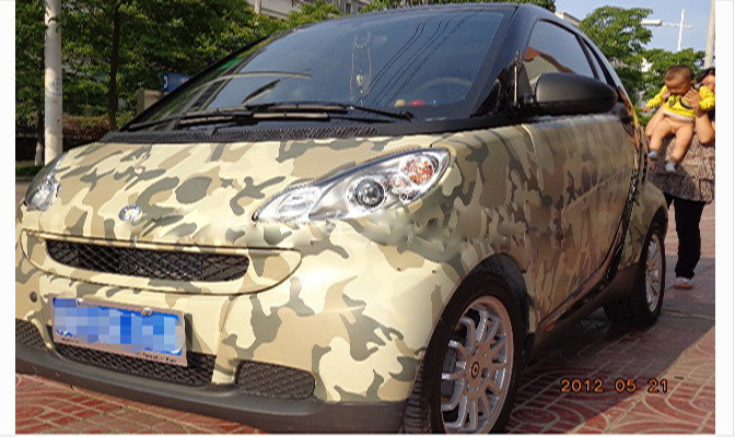Top grade camouflage vinyl car wrap sticker film 12 x60 air release for car body decoration