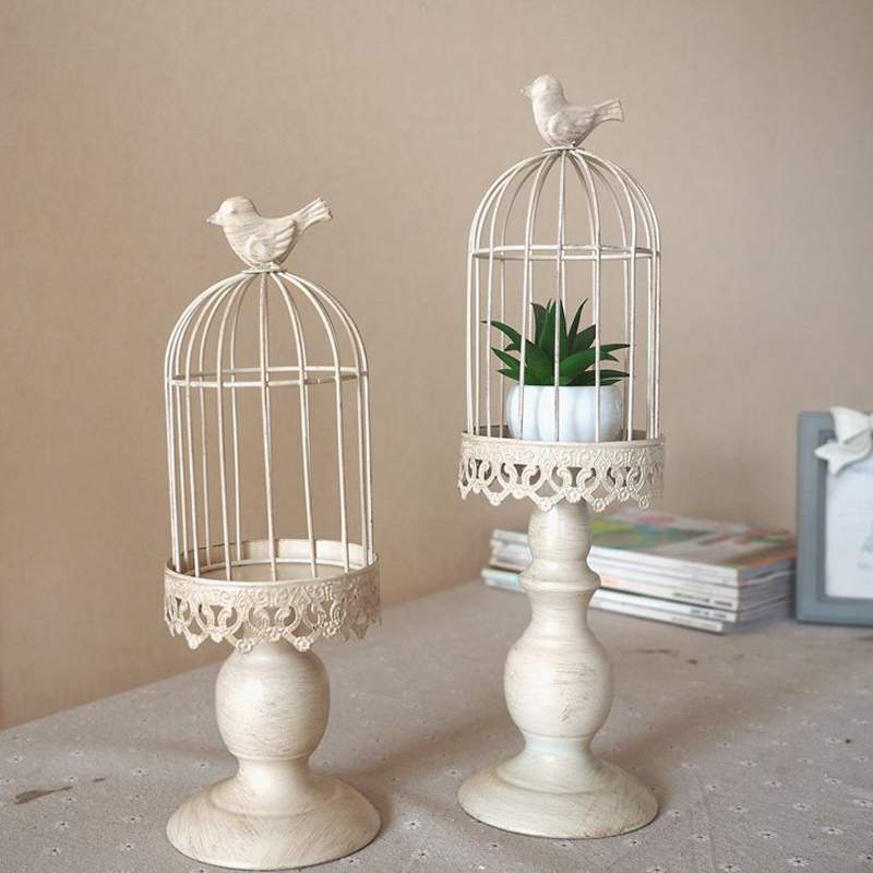 New design candle holder factory sales europe birdcage lantern Continental Iron Candle Holders wedding home candlestick