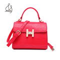 Bohemian Women Lady Serpentine PU Hasp Cover Mini Ladies Hand Crossbody Shoulder Bags For Leather Tote