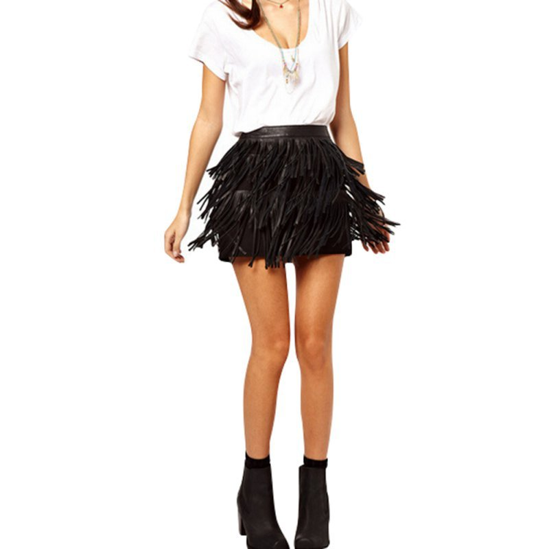 Mini Fringe Skirt Promotion-Shop for Promotional Mini Fringe Skirt ...