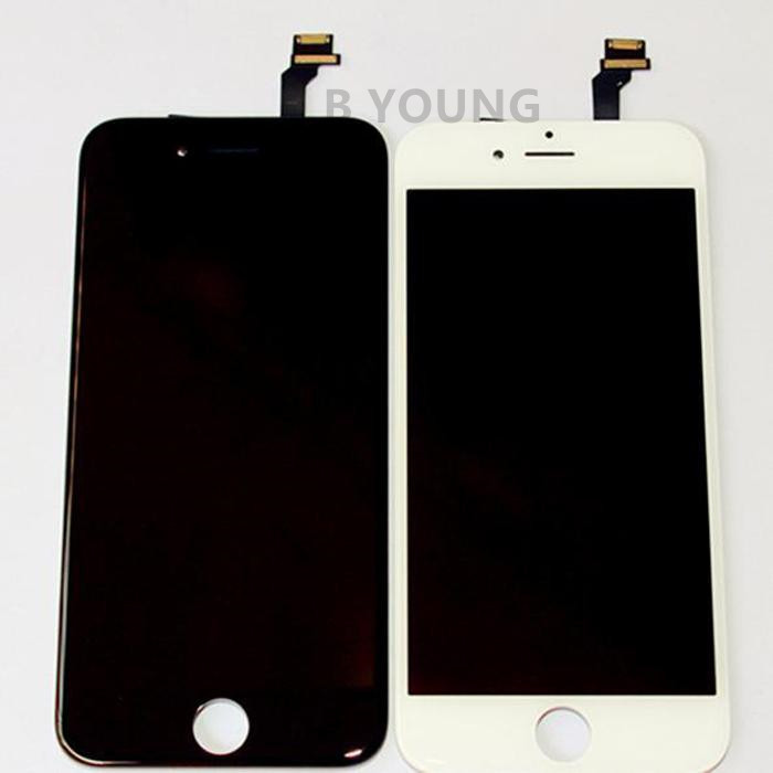 Black Original LCD Display Touch Digitizer Complete Screen for iPhone 6 4.7 inch with Frame Full Assembly Replacement(China (Mainland))