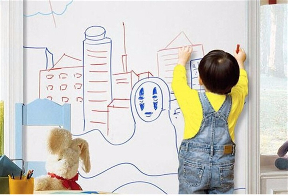 vinyl wall stickers for kids rooms boys girl home decor wall decals sticker wallpaper White Board sticker can draw anything(China (Mainland))