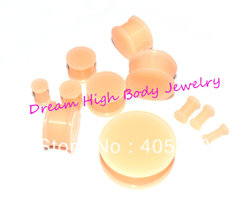 Style Kaos Silicone Flesh Tunnel Skin Color Expander Retainer Hiders silicone ear plug Body Jewelry 3-20mm - Dream High store