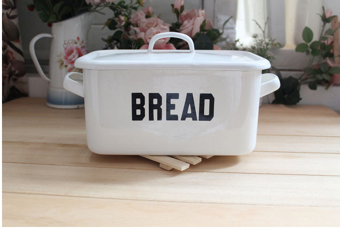2014 maquiagem acrylic makeup organizer 3 5l hot selling eco friendly enamel bread box with cover