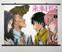 Home Decor Japanese Wall poster Scroll The Future Diary Gasai Yuno pink Art 014