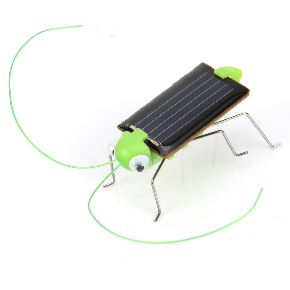 1pcs Lovely Mini Solar Energy Powered Child Toy Locust Solar Grasshopper Insect Bug Moving Toy 80554(China (Mainland))
