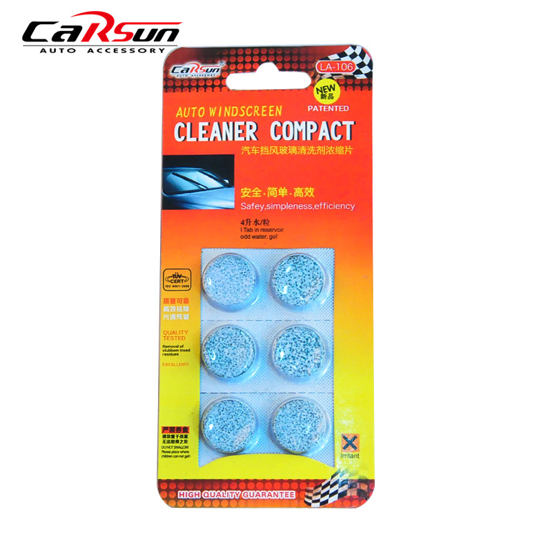 6 Pcs/Pack Amazing New Arrival Auto Windscreen Cleaner Car Windscreen Cleaning Agent Pills Effervescent Tablets(China (Mainland))