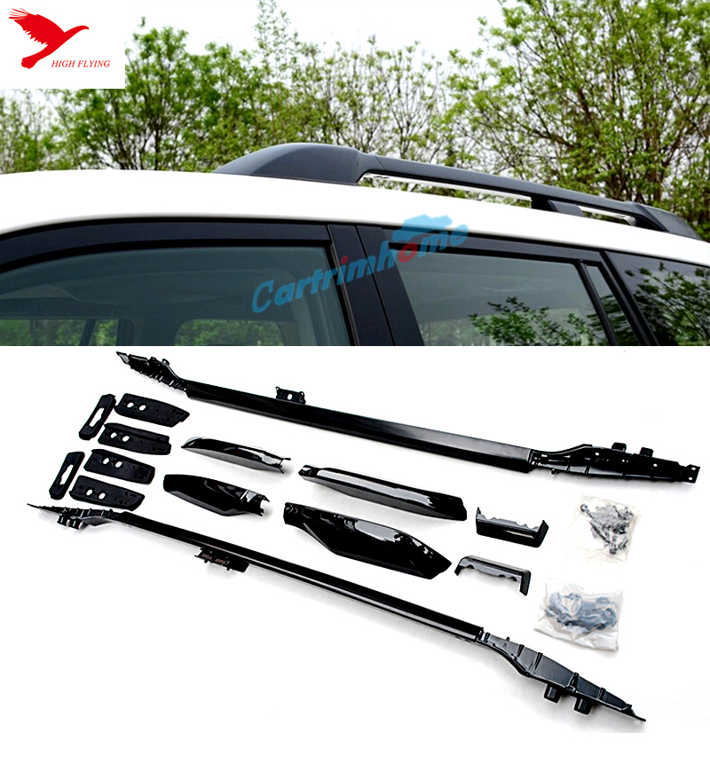 Black aluminium alloy Top Roof Rack rails for Toyota PRADO FJ150 2014 2015(China (Mainland))