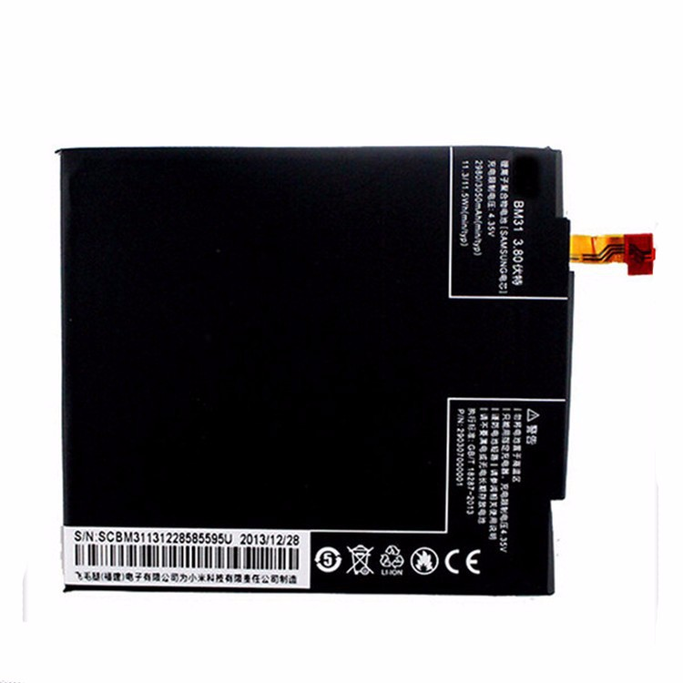 100% Tested BM31 3050mAh Li-ion Polymer Mobile Phone Battery For Xiaomi 3 M3 Mi3 Replacement Parts