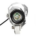2pcs Waterproof U8 LED Motorcycle Headlight Motorbike Head Light Lamp High Low Flash Beam Spotlights Driving