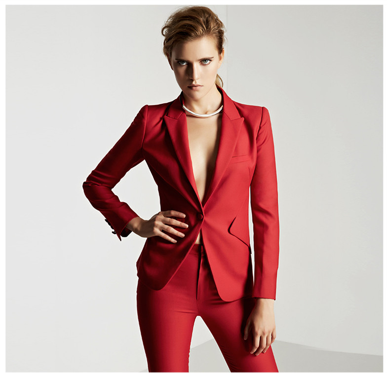 Ladies Red Suits Promotion-Shop for Promotional Ladies Red Suits ...