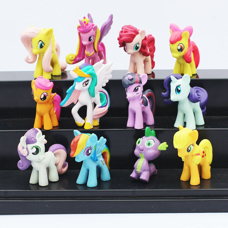 Plastic Little Horses Vinyl Dolls Pet Shop TV Anime Figure Set Ponies Figurine Pvc Action Figures Kids Toys For Boys Girls Gift(China (Mainland))