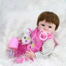 300pcs/lot 16 Inch(45cm) Silicone Reborn Baby Doll kids Playmate Gift (China (Mainland))