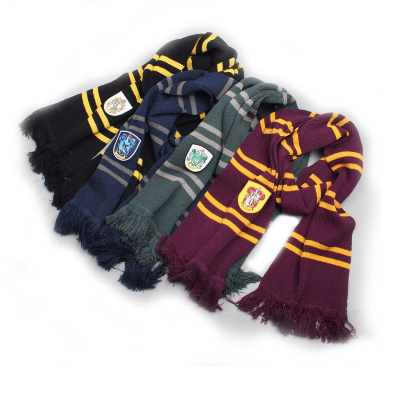 Gift Fashion Harry Potter Scarves Ravenclaw Scarf Accessories Gryffindor Scarf Magic School Slytherin Scarves(China (Mainland))
