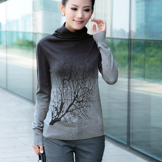 New Fashion 2016 Autumn Winter Women Oversized Turtleneck Wool Pullovers Sweaters Knitted Christmas Sweater - Shanghai Apparelshow fashion Ltd. store