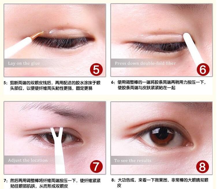 Wholesale-Super Invisible Double Eyelid Sticker Stretch Fiber Eyelid fold  Lift Adhesive Strips double sided eyelid tape 50PCS