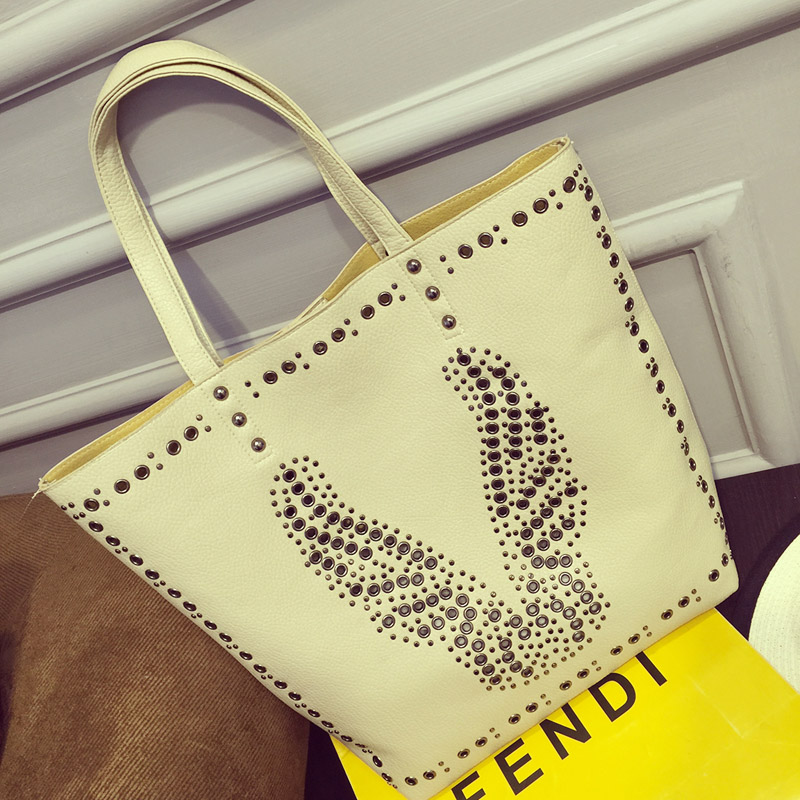 Фотография 2016 HOT SALE Women big capacity casual tote pu leather ladies shoulder new design shopping bags for girls