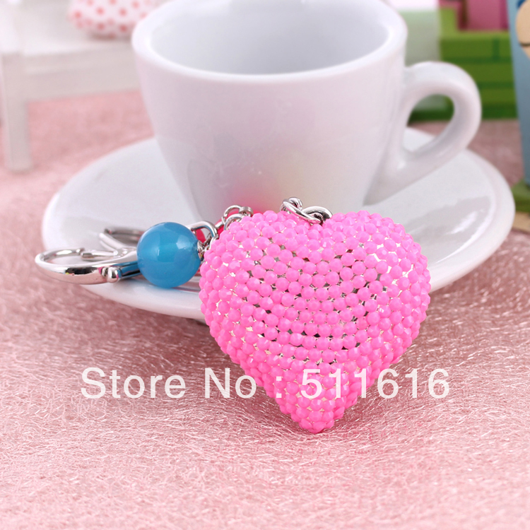 Export European 2013 New Arrival Trendy Nice Resin Peach Heart KeyChains Bag Pendant Wholesale Womans Jewelry<br><br>Aliexpress