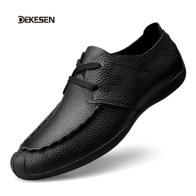 Dekesen ручной работы из натуральной кожи мужчины квартиры, Мода бизнес мужчины мокасины, ...
