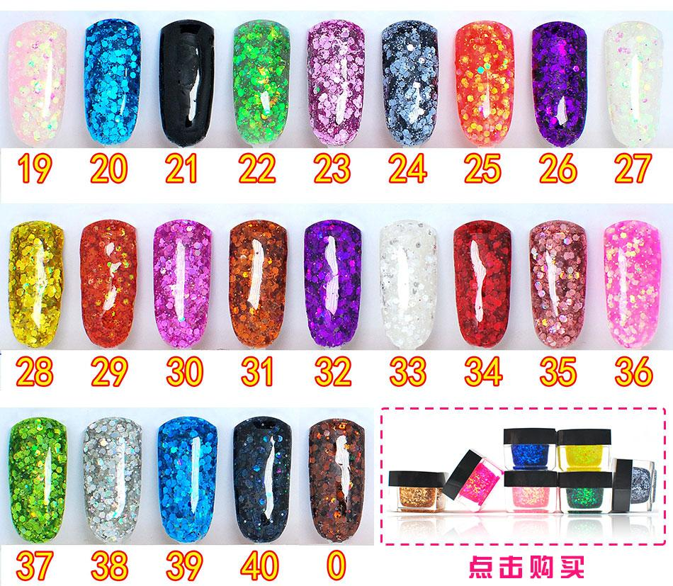 8ml,270 colors Glitter shining sequins coloured glaze nails polish Hotest Long Lasting Nail color Gel by UV/LED dry(China (Mainland))