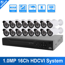 Buy 16CH HDCVI System 16 Channel 720P Support 1MP Recording CVR Kit 16PCS 720P HDCVI Outdoor bullet Camera CCTV System P2P View for $669.99 in AliExpress store