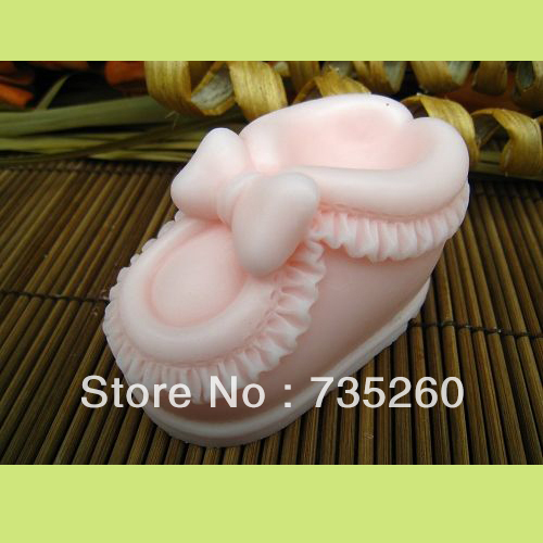 New Year Sale,Free Shipping 1ps Silicone gel 3D Cake Mold Decorating Gum Paste Fondant Clay Soap Mold Baby Shoe Shape(China (Mainland))