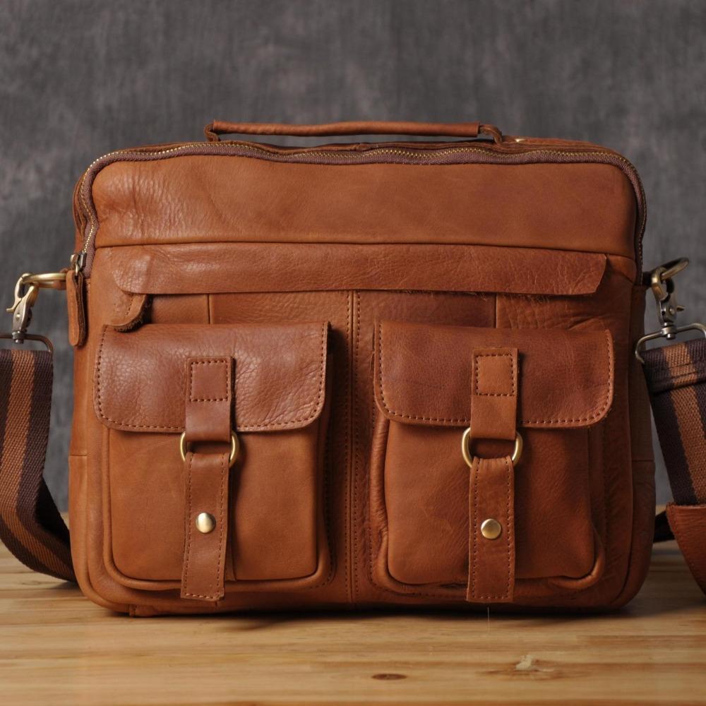 Vintage Custom Leather Postman Courier Messenger Shoulder Bag for Men Handmade Satchel(China (Mainland))