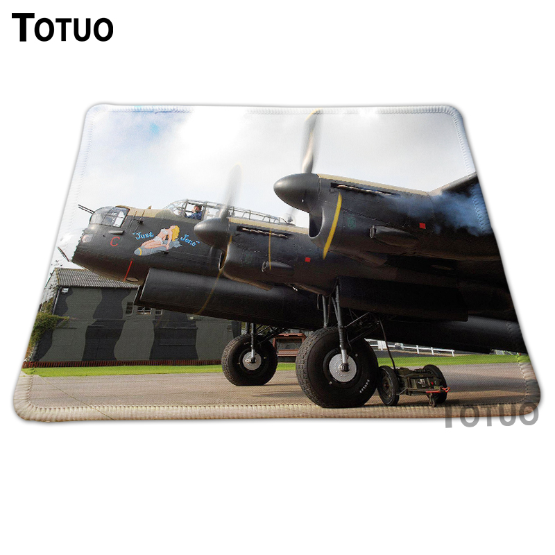 Hot sale avro lancaster avro manchester DIY Printing Pattern Durable Gaming Optics Mouse Mat Silicone Lock Edge Rectangular Pads(China (Mainland))