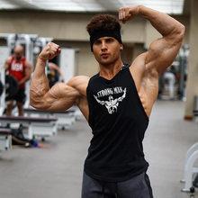 Tujuh Joe Baru Katun Kaos Tanpa Lengan Tank Top Kebugaran Kemeja Pria Singlet Binaraga Latihan Gym Rompi Kebugaran Pria(China)