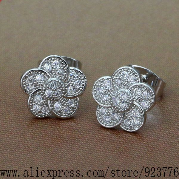 925 sterling silver earrings , 925 silver fashion jewelry , Flower stone /bgkajxra bvwaknda WX-E001<br><br>Aliexpress