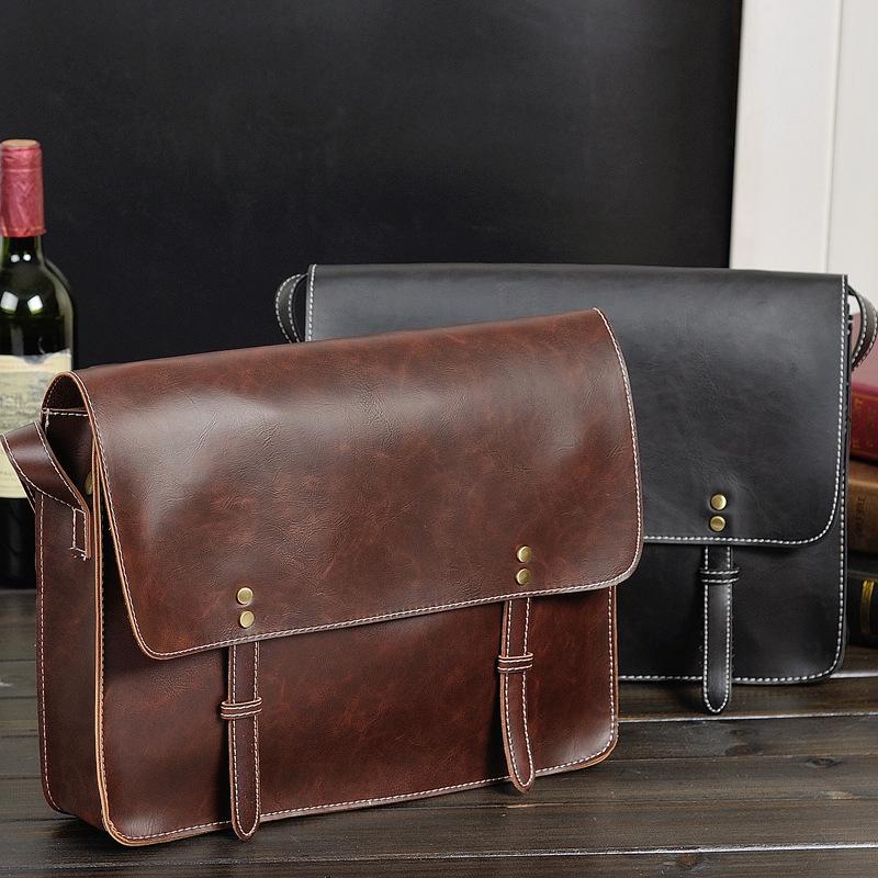2015 Direct Selling New Bags Handbags Famous Brands Clutch Bag Retro Messenger Bag Men Leather Designer For Tas Bahu Untuk Pria(China (Mainland))