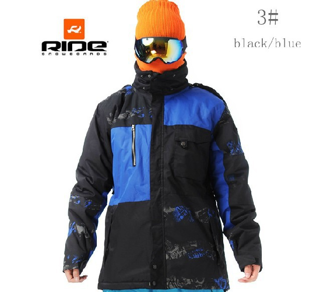 13 THE LATEST original RIDE quality ski jacket,snowboard clothes,Men Outdoor Sport Waterproof Windproof Breathable Thermal suits(China (Mainland))