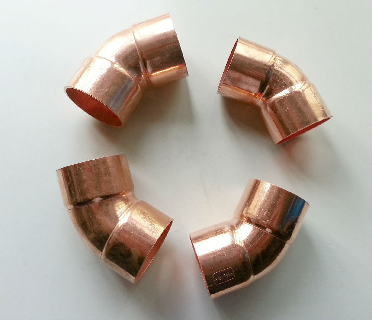 Free shipping degree mm copper elbow double
