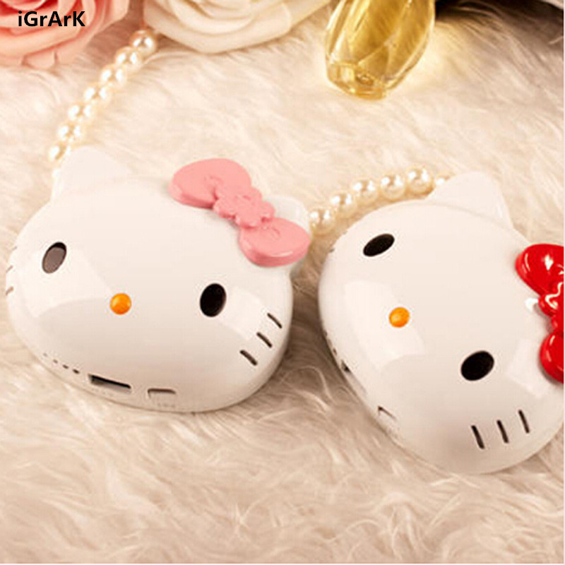 1pc all Mobile Phone Hello Kitty Power Bank Portable Powerbank Battery Hello Kitty 3D Cartoon Design Charge For IOS Android(China (Mainland))