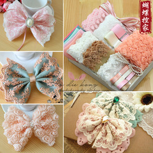 Lace sleeve models big bow suit material package novice novice Package diy craft materials(China (Mainland))