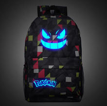Galaxy Luminous Printing Backpack Pokemon Gengar Backpacks School Bags For Teenager Girls Mochila Feminina L97