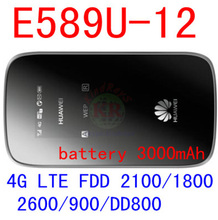 Huawei MiFi E587 3 G 4 G lte WIFI hotspot wireless Router desbloqueado 43.2 mbps móvel de compartilhamento wi fi 3 G Modem dongle