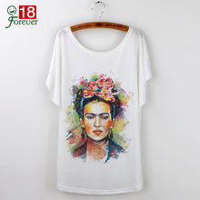 Buy Frida Kahlo Print T-Shirt Women 2017 Casual Tops Tees Plus Size O-neck Camisetas Mujer Short Sleeve Harajuku White T shirt Femme for $5.12 in AliExpress store