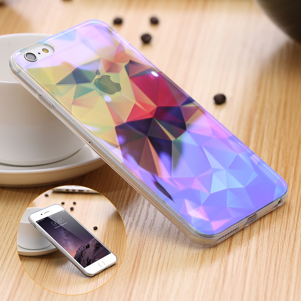modern blue ray light clear mobile phone case for iphone 6 6s 6 plus 5 5 6s plus funny pattern. Black Bedroom Furniture Sets. Home Design Ideas