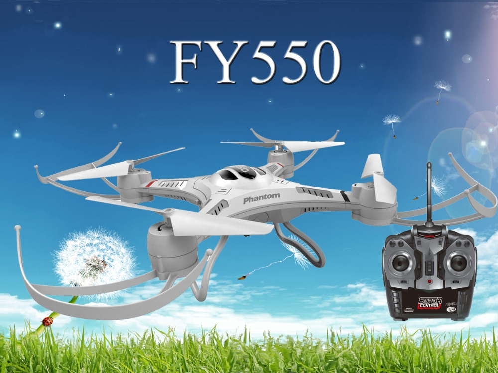 Phantom FY550 drone 4CH 6-Axis remote control RTFQuadcopter with camera rc toys with LED Light hobby king radio control toys(China (Mainland))