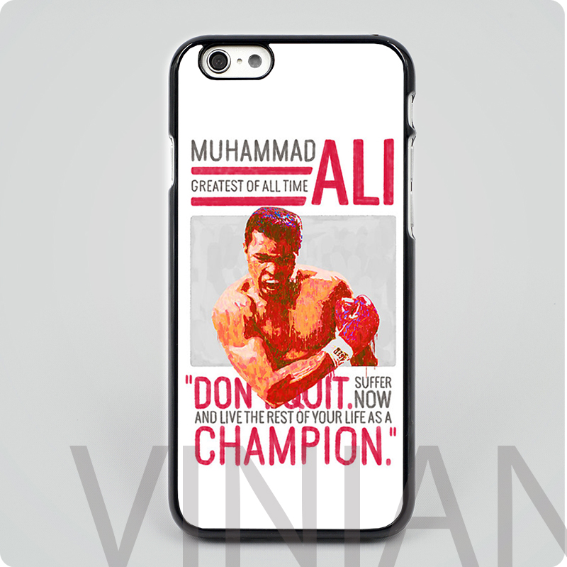 Muhammad Ali - G.O.A.T. black hard skin mobile phone cases cover housing for iphone 4 4s 5 5s 5c 6 6 plus free shipping(China (Mainland))