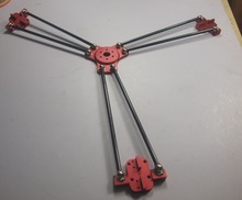 Reprap Delta Rostock Kossel k800 metal magnetic effector carriage 180mm carbon tube Diagonal push rods kit