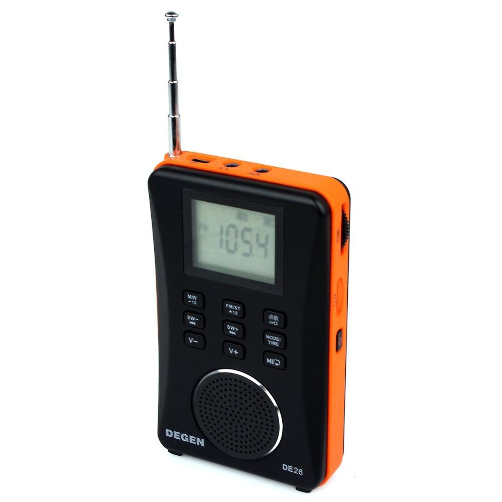 FM Stereo Digital Audio MP3 Card Full Band Radio Radios Degen DE26 Y4105A<br><br>Aliexpress