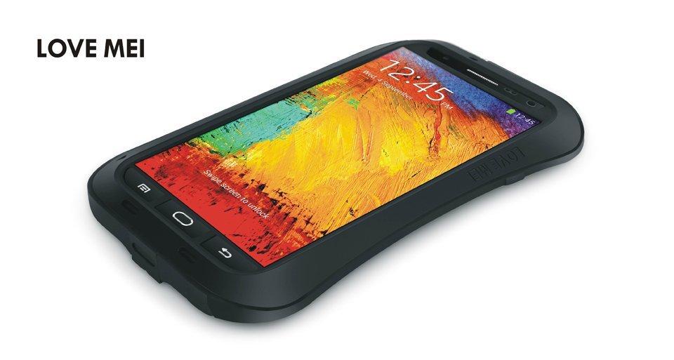 Original Love Mei Waterproof Waist Metal Aluminum Case Galaxy Note 3 N9000 Gorilla Glass, - Shenzhen BJW Trade store
