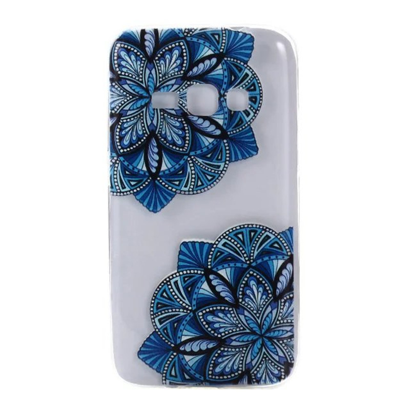Colorful TPU Case sFor Coque Samsung galaxy J1 2016 J120F J1200 Floral Clear Soft Gel Transparent Case Cover For Galaxy J120