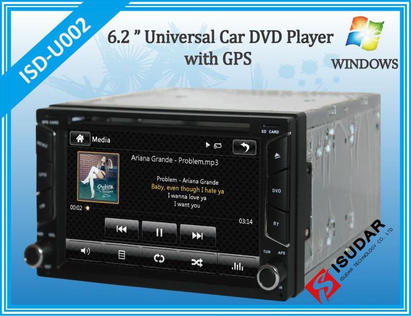 Two Din 6 2 Inch Universal Car DVD Player With Wifi 3G Host Radio GPS Navigation