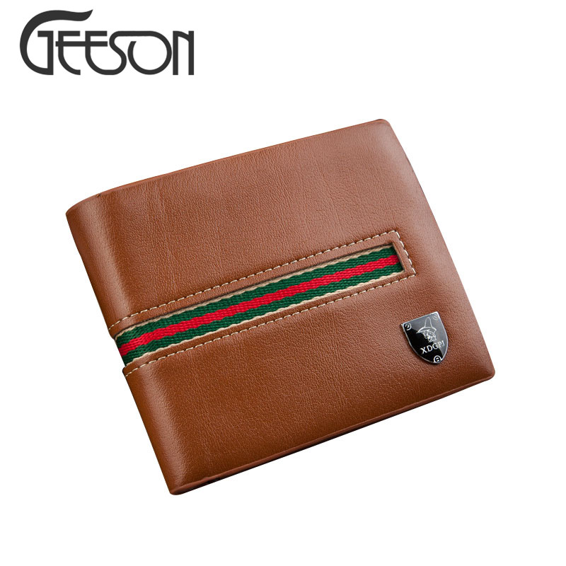 2016 Designer Navy Land Mens PU Leather Wallet Short Bran Wallets For Male Russian Money Clip Purse Clutch Zipper Pouch KW162(China (Mainland))