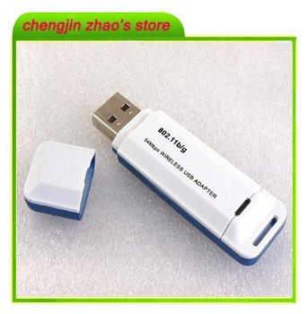 Wholesale 54M USB WIFI Wireless Network device Lan Card 802.11b/g Internet Adapter 54Mbps